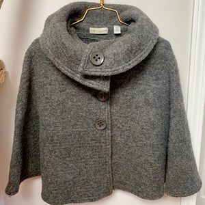 Jackets & Blazers - Beautiful, Classy Wool Poncho with arm holes Small